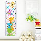 Height Measuring Ruler Self-Adhesive Removable Wall Stickers For Kids