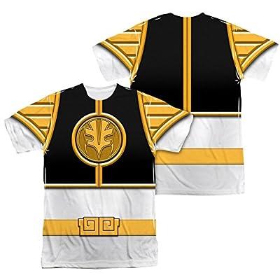 Mighty Morphin Power Rangers White Ranger Costume - All Over Front / Back T-Shirt