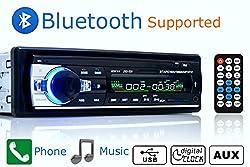 See Car Radio Bluetooth 1 DIN in Dash 12v Sd/usb Ipod Aux Input Fm Stereo Head Unit Details