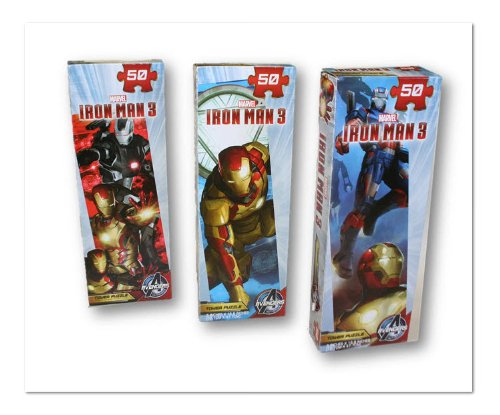 Iron Man 3 Tower Puzzle Pack - 50 Pieces (3-Pack)