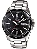 Casio Edifice Men's Quartz Watch with Black Dial Analogue Display and Silver Stainless Steel Bracelet EFR-100SB-1AVEF