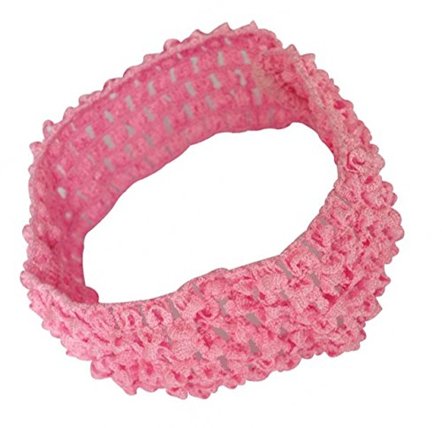 PinkXenia Crochet Knitted soft Elastic NewBorn BabyGirl Light Pink Headband