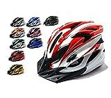 【AHKAH WORKS】男女兼用 軽量 自転車用 ヘルメット  サングラス付 サイズ調整可 ランキングお取り寄せ