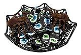 Creepy Eyeball and Spiders Halloween Candy Bowl Bundle, 3 Items: Spiderweb Bowl, Eyeball Sweet Cream Candy, 2 Spiders