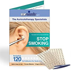 Stop Smoking Ear Seed Kit- 120 Ear Seeds, Stainless Steel Tweezer