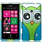 For T-Mobile Nokia Lumia 521 Windows Phone 8 Hard Snap-on Case Cover Owl