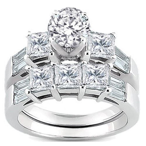 1.50 Carat (ctw) 14k White Gold Round, Princess