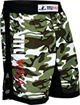TITLE MMA Vertical Quad Flex Fight Shorts, Camo/Black, Medium
