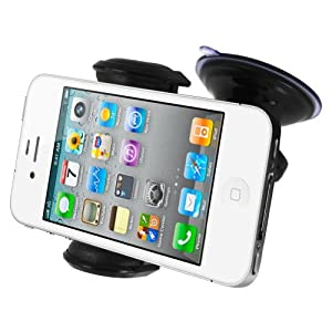 Mivizu Universal Windshield/Dashboard Car Holder Cradle for iPhone 5, Samsung Galaxy S3, S2, Note 2, Motorola Droid Razr HD Maxx, iPhone 4s & Vent Mount