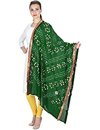 Vastraa Fusion Women's Ethnic Bandhani Work Cotton Dupatta/ Stole Designed With Borders On Edges- Available In...