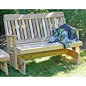 Cedar Countryside Wood Garden Bench Size: 4', Finish: Cedar Stain/Sealer
