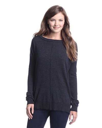 Autumn Cashmere Women's Solid Boatneck Sweater  - Cavalry/Cavalry