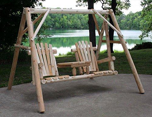Lakeland Mills Lakeland Mills Tete-A-Tete Yard Swing Set, Brown, Wood front-65617