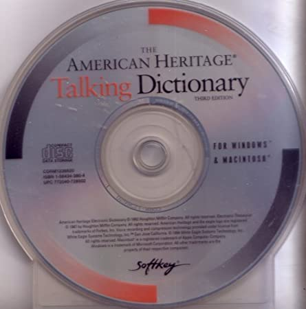 The American Heritage Talking Dictionary, Third Edition: For Windows & Macintosh (CDRM1236620, 77204