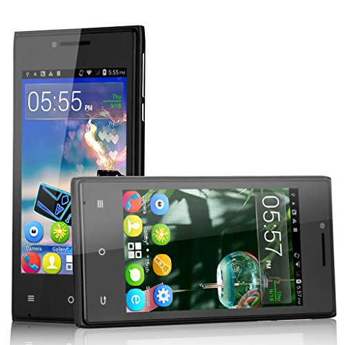 Cubot GT72+ 3G Smartphone Android 4.4 Dual Core Dual Handy ohne Vertrag 4,0 Zoll Screen 4G ROM WIFI 1.2GHz 2 Kameras Schwarz