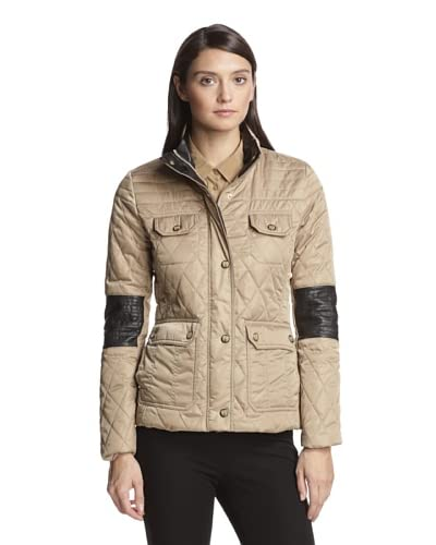 Vince Camuto Women's Quilted Jacket  [Mocha]