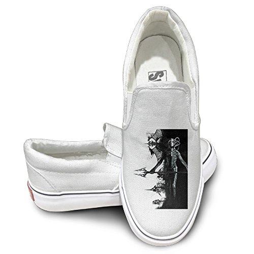 [NF18G Black Manta Logo Fashion Canvas Shoes Size44 White] (Lightning Strike Costume)