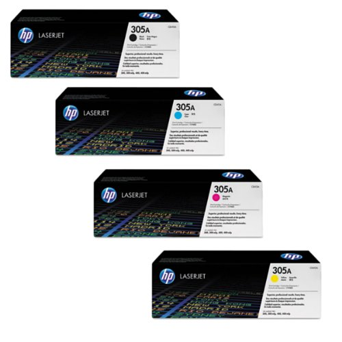 HP LaserJet Pro 400 Color M451dn Toner Cartridge Set (OEM) Black, Cyan, Magenta, Yellow