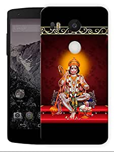 "Jai Shri Hanuman - Indian Hindu God Printed Designer Mobile Back Cover For ""Lg Google Nexus 5X"" (3D, Matte, Premium Quality Snap On Case)"