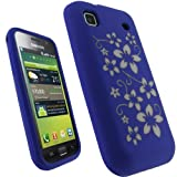 igadgitz Purple & White Flower Design Silicone Skin Case Cover for Samsung  ....