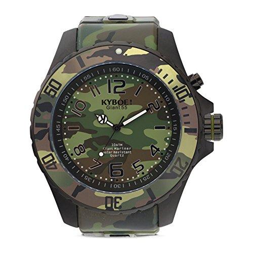 Kyboe. Reloj Analógico para Mujer Quartz goma verde CS de 004-55