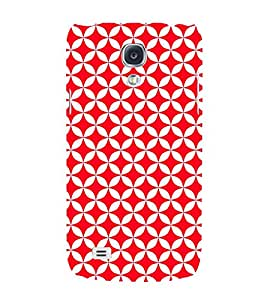 Red Circular Triangles 3D Hard Polycarbonate Designer Back Case Cover for Samsung Galaxy S4