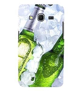 Printvisa Beer Bottles Depicting Summertime Back Case Cover for Samsung Galaxy Core Prime G360