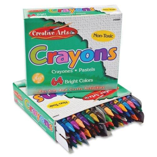 Cli Creative Arts 64 Bright Crayon Box front-64482