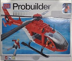 Mega Bloks - Jeu de construction - L'hélicoptère de secours -Mountain Peak Expedition