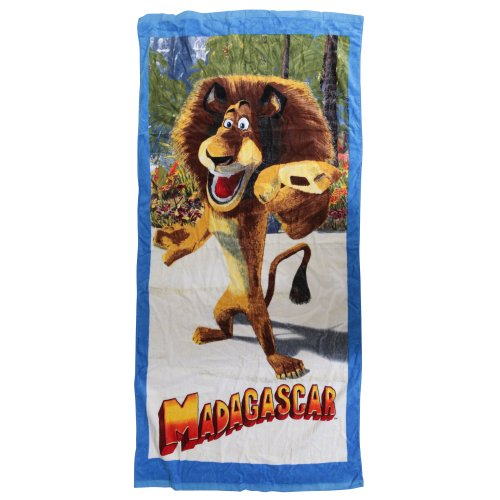 Childrens/Kids Madagascar 100% Cotton Beach/Bath Towel (75cm x 150cm) (Blue)