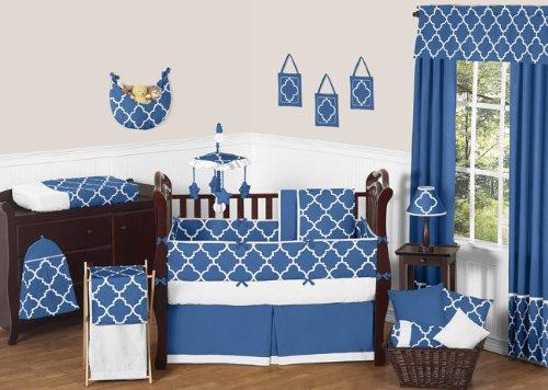 Sweet Jojo Designs Blue and White Trellis