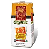Copper Moon Aztec Moon Organic Coffee Ground 10 Ounce Bags  Pack of 3