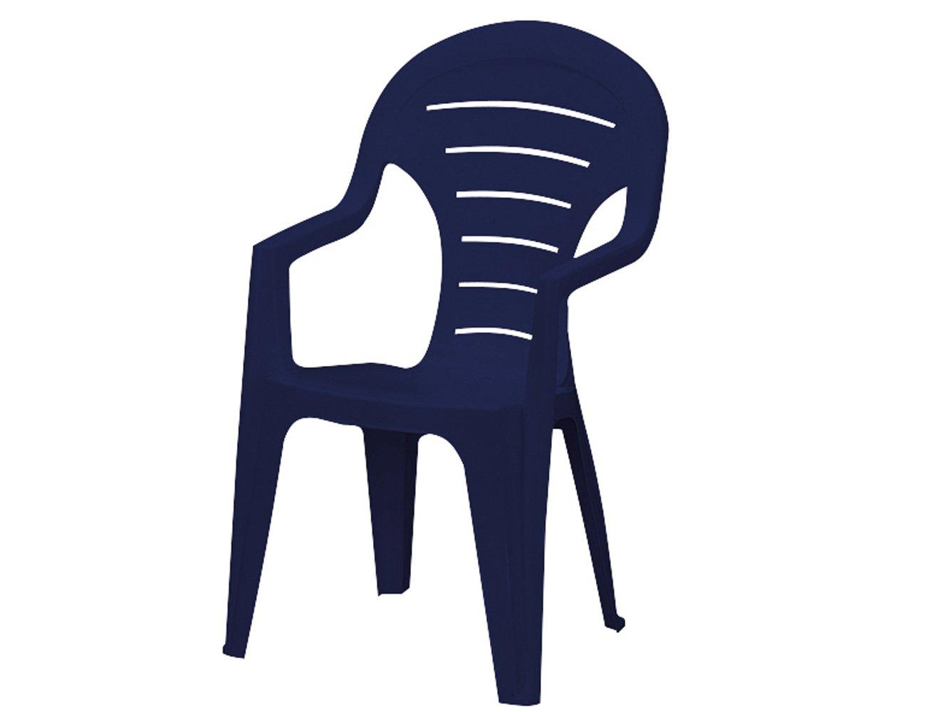 Jardin 142671 Stapelsessel Bonaire, Vollkunststoff, 55.5 x 57 x 92 cm, blau günstig kaufen