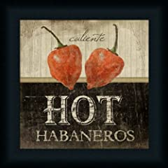 Hot Habaneros Art Print Framed