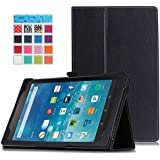 Fire HD 8 2015 Case - MoKo Slim Folding Cover with Auto Wake / Sleep for Amazon Kindle Fire HD 8 Inch Display Tablet (2015 Release Only), BLACK