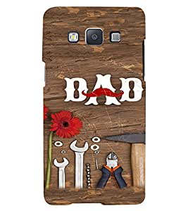 PrintVisa Dad Father Quotes Design 3D Hard Polycarbonate Designer Back Case Cover for Samsung Galaxy E5