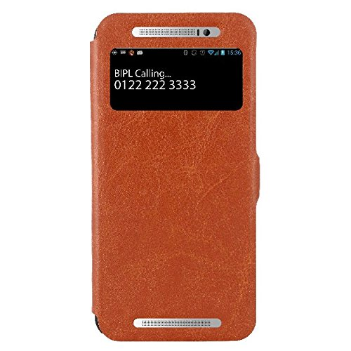 Jacket HTC One E8 Flip Cover, Slim Flip Case Cover, Protective and Stylish Case for HTC One E8 Dual Sim (Brown)  available at amazon for Rs.499