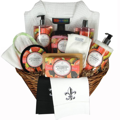 Strawberry Papaya Large Tropical Fruit Bath Spa Gift Basket