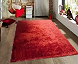 Excellent Red ~5ft' x 7ft' Hand Tufted shag Rug, Hand Woven On Sale! with FREE RUG INCLUDED