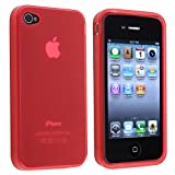 Hot Pink Soft Rubber Gel Case Cover Compatible With iPhone 4 4G OS4