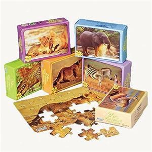 Mini Wild Animal Puzzles (1 Dozen) - Bulk