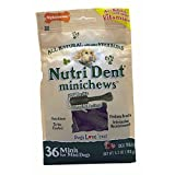 Nylabone Nutri Dent Original Minichews for dogs up to 10 lbs., 36-Count Pouch