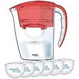 Aqua Optima FJ0259  Galia Filter Jug with 6 60-day Filters,  Chilli Red 1 year's supply