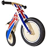 Kiddimoto Kids Kurve Wooden Balance Bike Union Jack