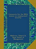 img - for Comments for the IRRA session on employment security book / textbook / text book