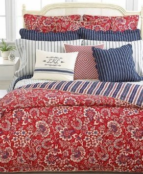 Ralph Lauren Villa Martine Floral Red Multi Duvet Cover, Twin front-1035931