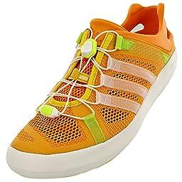 Adidas Climacool Boat Breeze Shoe - Men\'s Eqt Orange / Chalk White / Eqt Yellow 6