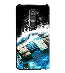 Omnam String Of Guitar With Water Music Pattern Printed Designer Back Cover Case For LG G2