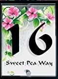 Modern Acrylic House Sign Designer style Sweet Pea
