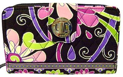 Vera Bradley Turn Lock Wallet Purple Punch